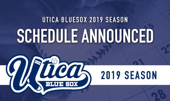 image about White Sox Printable Schedule named BLUE SOX ANNOUNCE 2019 Period Program Utica Blue Sox
