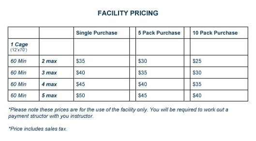 Facility Pricing