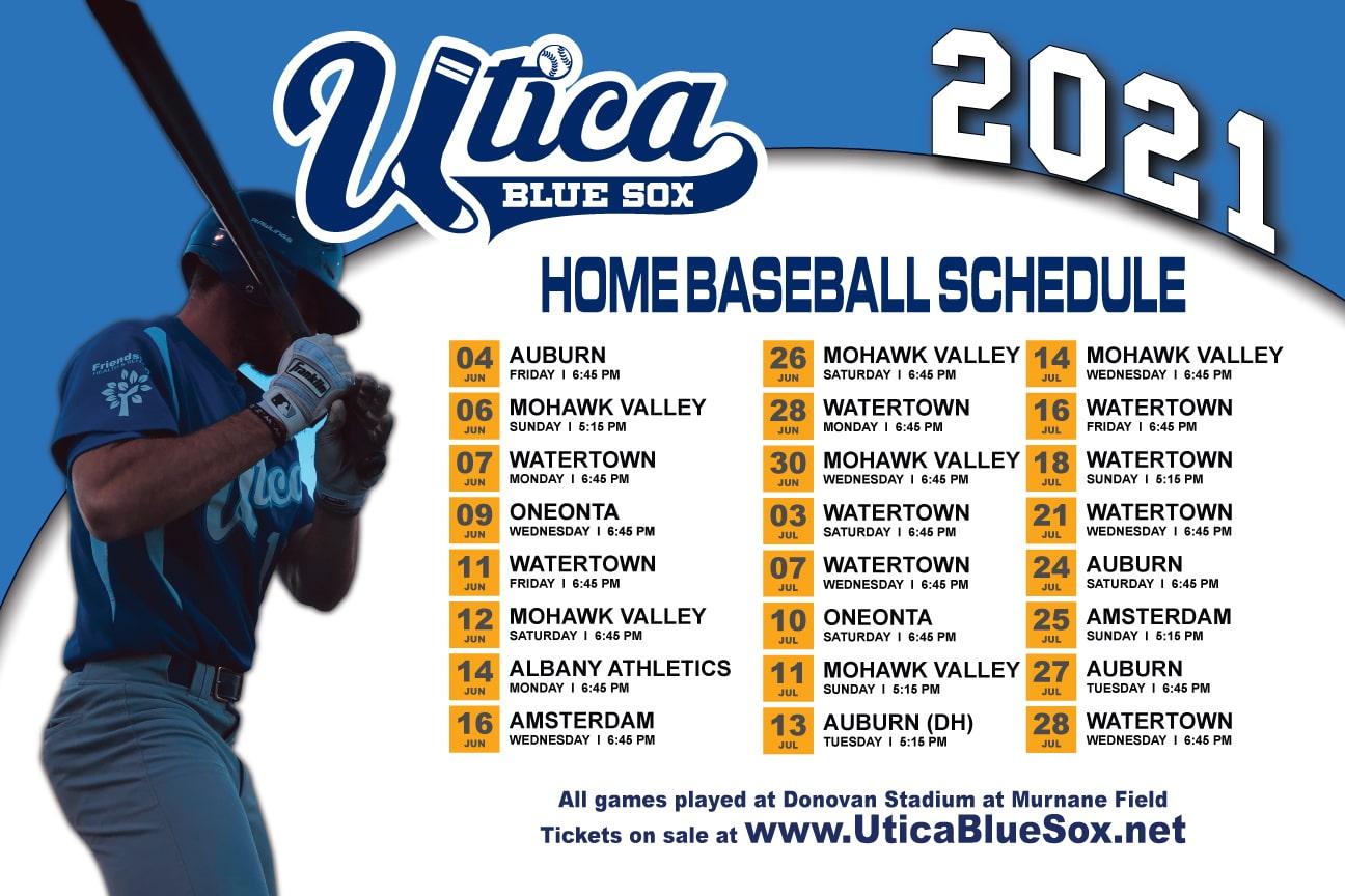 BlueSox 2021 schedule
